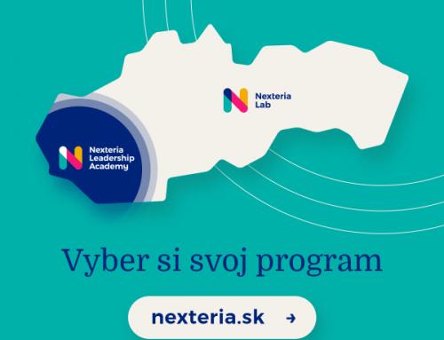 Vyber si svoj program, prihlasovanie do Nexterie je otvorené